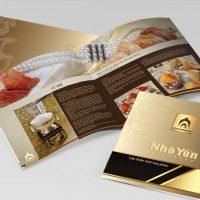 Những mẫu in brochure trong hội nghị thương mại