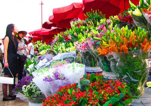 bán hoa tươi ngày tết